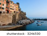 little harbor with boat at... | Shutterstock . vector #3246530