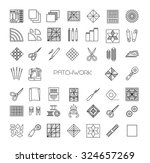 patchwork  line icons set....