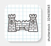 castle doodle | Shutterstock . vector #324658565