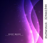 shiny waves wallpaper style... | Shutterstock .eps vector #324661544