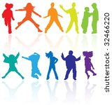 colored vector silhouettes of... | Shutterstock .eps vector #32466220