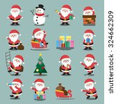 santa clauses set for christmas | Shutterstock .eps vector #324662309