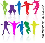 colored vector silhouettes of... | Shutterstock .eps vector #32466232