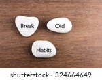 white stones with break the old ... | Shutterstock . vector #324664649