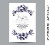 romantic invitation. wedding ... | Shutterstock .eps vector #324665114