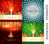 vector collection of diwali... | Shutterstock .eps vector #324666431
