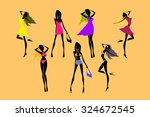 vector collection of beautiful... | Shutterstock .eps vector #324672545