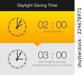 daylight saving time vector... | Shutterstock .eps vector #324678971