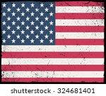 grunge usa flag.american flag... | Shutterstock .eps vector #324681401