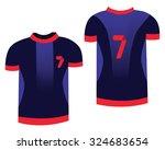 soccer sports uniform. t shirt... | Shutterstock .eps vector #324683654