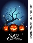 illustration of three halloween ... | Shutterstock .eps vector #324701789