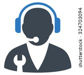 support manager vector icon.... | Shutterstock .eps vector #324703094