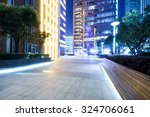 marble bricked square at night... | Shutterstock . vector #324706061