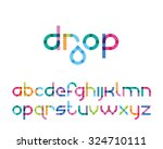 color font drop | Shutterstock .eps vector #324710111