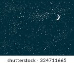 star sky night | Shutterstock .eps vector #324711665