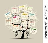 Calendar Tree Design 2016 With...