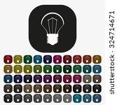 incandescent bulb. icon. vector ... | Shutterstock .eps vector #324714671