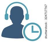 operator time vector icon.... | Shutterstock .eps vector #324717767