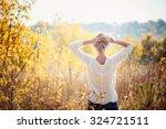 happy young girl enjoying the... | Shutterstock . vector #324721511