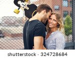 couple loving each other  big... | Shutterstock . vector #324728684