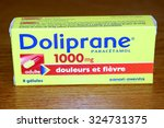 Small photo of OZOIR LA FERRIERE, FRANCE - OCTOBER 7, 2015: Box of Tylenol in ozoir la Ferriere, France. Acetaminophen is the active ingredient of many drug specialties in the class of painkillers.
