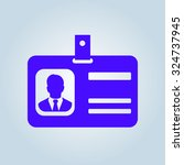 identification card icon. flat... | Shutterstock .eps vector #324737945