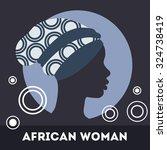 silhouette of woman. beautiful...   Shutterstock .eps vector #324738419