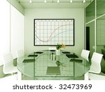 modern interior. 3d render.... | Shutterstock . vector #32473969