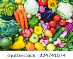 Raw vegetables and fruits...