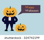 "pumpkin man saying ""happy... 