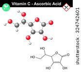 ascorbic acid  ascorbate... | Shutterstock .eps vector #324742601