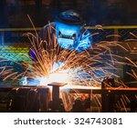 welder industrial automotive... | Shutterstock . vector #324743081
