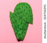 cactus on pink background.... | Shutterstock . vector #324743291
