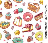 vector pattern illustration... | Shutterstock .eps vector #324749891