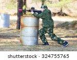 Boy With A Gun Playing Lazer Tag