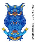 colorful vector owl | Shutterstock .eps vector #324758759