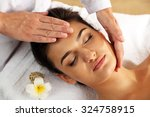 young woman in beauty spa salon ... | Shutterstock . vector #324758915