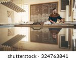 professional craftsman working... | Shutterstock . vector #324763841