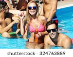 young people having fun in the... | Shutterstock . vector #324763889