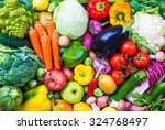 Assorted Raw Vegetables And...