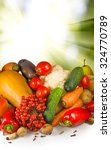 image of different vegetables... | Shutterstock . vector #324770789