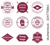 set of brand design badge and... | Shutterstock .eps vector #324770861