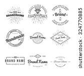 retro vintage insignias or... | Shutterstock .eps vector #324770885
