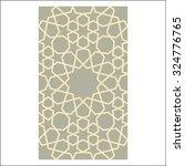 arabesque pattern  vector... | Shutterstock .eps vector #324776765