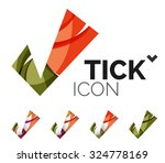 set of abstract ok and tick... | Shutterstock .eps vector #324778169