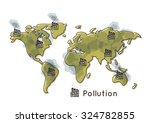 map environment pollution... | Shutterstock .eps vector #324782855