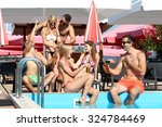 young people having fun in the... | Shutterstock . vector #324784469
