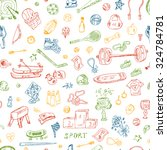 sports. vector seamless pattern ... | Shutterstock .eps vector #324784781