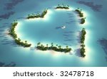 aerial view of a heart shaped... | Shutterstock . vector #32478718
