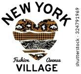 new york village typography... | Shutterstock .eps vector #324791969